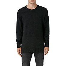 Buy AllSaints Minami Crew Neck Jumper, Black Online at johnlewis.com