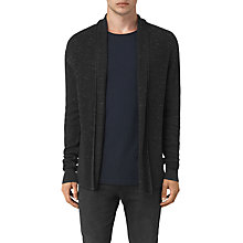Buy AllSaints Zellern Cardigan, Cinder Black Marl Online at johnlewis.com