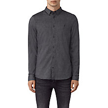 Buy AllSaints Millard Long Sleeve Shirt, Blue Online at johnlewis.com