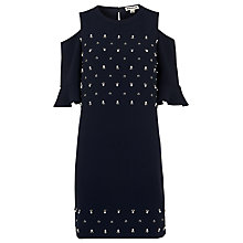 Buy Whistles Scarlett Cold Shoulder Embellished Dress, Navy Online at johnlewis.com
