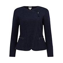 Buy East Boiled Wool Biker Jacket, Sapphire Online at johnlewis.com
