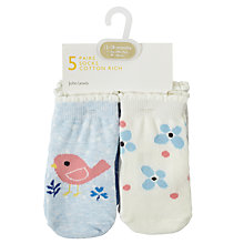 Buy John Lewis Baby Sheep and Birds Character Socks, Pack of 5, Multi Online at johnlewis.com
