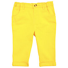 Buy John Lewis Baby Twill Trousers, Yellow Online at johnlewis.com