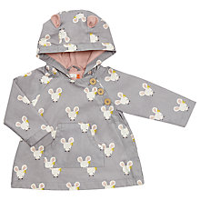 Buy John Lewis Baby Mouse Hooded Jacket, Grey Online at johnlewis.com