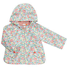 Buy John Lewis Baby Ditsy Floral Print Hooded Jacket, Pink/Multi Online at johnlewis.com
