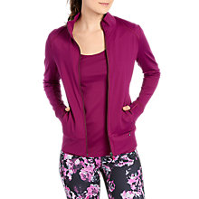 Buy Lolë Essential Up Yoga Jacket, Plum Online at johnlewis.com