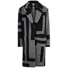 Buy Jaeger Laboratory Graphic Coat, Black/Charcoal Online at johnlewis.com
