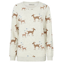 Buy Sugarhill Boutique Bambi Print Sweatshirt, Cream Marl Online at johnlewis.com