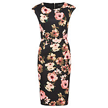Buy Sugarhill Boutique Lori Digital Floral Dress, Black/Pink Online at johnlewis.com