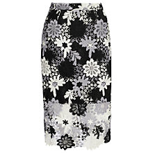 Buy True Decadence Crochet Lace Skirt, White/Black Online at johnlewis.com