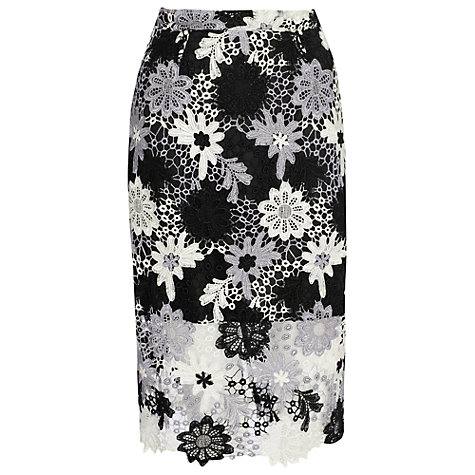 Crochet Patterns John Lewis : Buy True Decadence Crochet Lace Skirt, White/Black Online at johnlewis ...