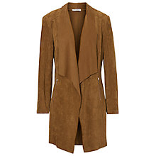 Buy Betty Barclay Faux Suede Waterfall Jacket, Dark Brass Online at johnlewis.com