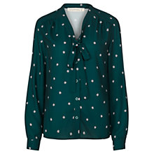 Buy Sugarhill Boutique Bruna Ladybird Print Pussybow Blouse, Green Online at johnlewis.com