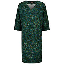 Buy Jaeger Diagonal Dash Print Dress, Multi Online at johnlewis.com