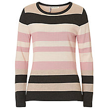 Buy Betty Barclay Striped Jumper, Taupe/Rosé Online at johnlewis.com
