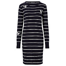 Buy Sugarhill Boutique Love Bird Knit Dress, Navy/Cream Online at johnlewis.com