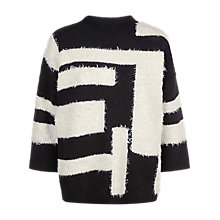 Buy Jaeger Laboratory Graphic Jumper, Black/Ivory Online at johnlewis.com