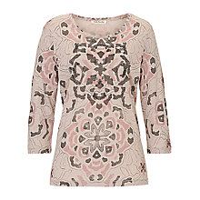 Buy Betty Barclay Embellished Print Top, Beige-Rosé Online at johnlewis.com