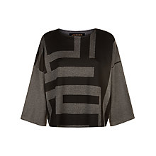 Buy Jaeger Laboratory Graphic Top, Black/Grey Online at johnlewis.com