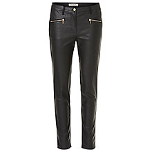 Buy Betty Barclay Faux Leather And Suede Trousers, Black Online at johnlewis.com