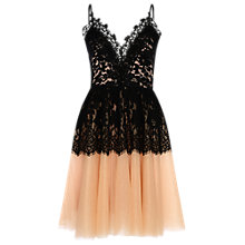 Buy True Decadence Lace Bodice Tutu Dress, Black/Nude Online at johnlewis.com