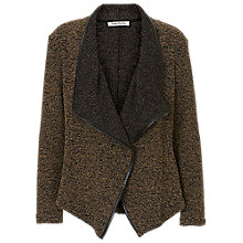 Buy Betty Barclay Knitted Waterfall Cardigan, Black/Green Online at johnlewis.com