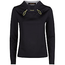 Buy Jaeger Laboratory Cord Tie Top, Black Online at johnlewis.com