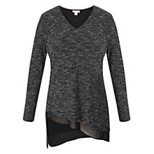 Buy Celuu Sky Asymmetric Hem Top, Charcoal Online at johnlewis.com