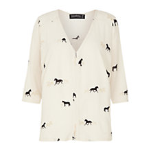 Buy Sugarhill Boutique Anthea Horse Print Top, Cream Online at johnlewis.com