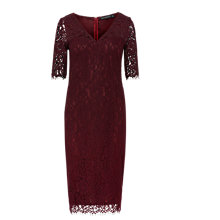 Buy Sugarhill Boutique Kim Lace Dress, Deep Red Online at johnlewis.com