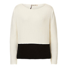 Buy Betty Barclay Two-Tone Jumper, Off White Online at johnlewis.com