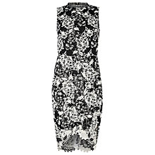 Buy True Decadence Crochet Lace Bodycon Dress, White/Black Online at johnlewis.com
