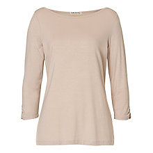 Buy Betty Barclay Slash Neck T-Shirt, Pearl Cream Online at johnlewis.com