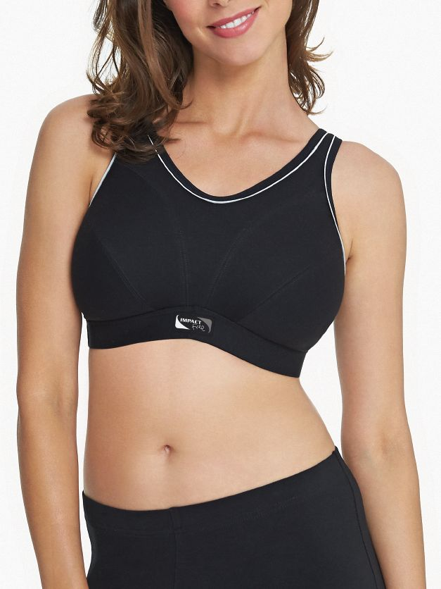 Royce Royce Impact Free Non Wired Sports Bra, Black