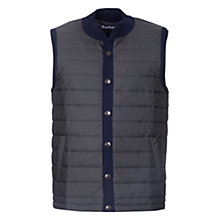 Buy Barbour Baffle Quilted Gilet, Navy Online at johnlewis.com
