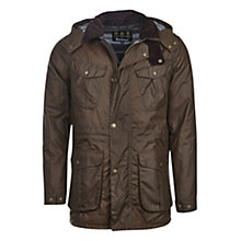 Buy Barbour Rocker Waxed Jacket, Peat Online at johnlewis.com