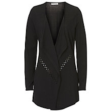 Buy Betty Barclay Fine Knitted Waterfall Cardigan, Black Online at johnlewis.com