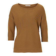 Buy Betty Barclay Chevron Ribbed Jumper, Dark Brass Online at johnlewis.com