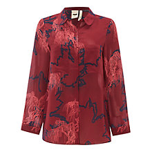 Buy White Stuff Savoy Silk Shirt, Burgundy Rose Online at johnlewis.com