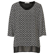Buy Betty Barclay Layered Print Blouse, Black/Cream Online at johnlewis.com