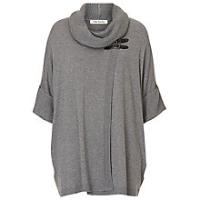 Buy Betty Barclay Oversized Wrap Jumper, Grey Melange Online at johnlewis.com