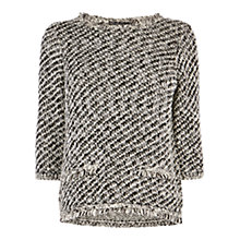 Buy Karen Millen Fringed Texture Jumper, Multi Online at johnlewis.com
