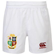 Buy Canterbury of New Zealand British and Irish Lions Children's Home Rugby Shorts, White Online at johnlewis.com