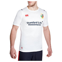 Buy Canterbury of New Zealand British and Irish Lions Short Sleeve Rugby T-Shirt, White Online at johnlewis.com