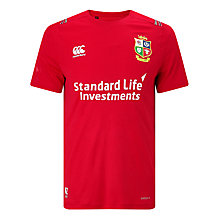 Buy Canterbury of New Zealand British and Irish Lions Vapodri Superlight Logo T-Shirt, Red Online at johnlewis.com
