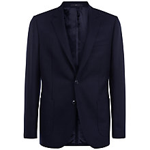 Buy Jaeger Lambswool Regular Fit Blazer, Navy Online at johnlewis.com