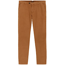 Buy Jaeger Garment-Dyed Slim Fit Chinos, Camel Online at johnlewis.com