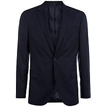 Buy Jaeger Herringbone Super 130s Wool Regular Fit Suit Jacket, Navy Online at johnlewis.com
