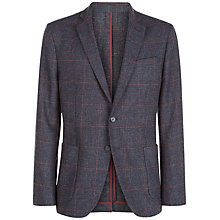 Buy Jaeger Wool Houndstooth Slim Fit Blazer, Navy Online at johnlewis.com