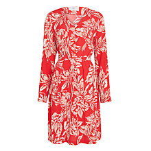 Buy Minimum Leah Leaf Print Dress, Tango Red Online at johnlewis.com